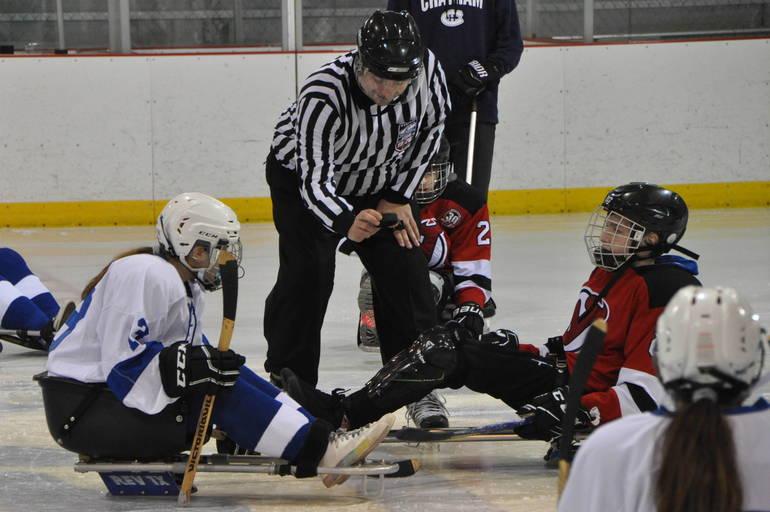Sled Hockey Westfield Blue Devils