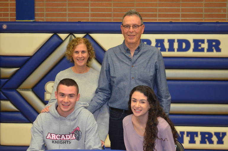 Scotch Plains-Fanwood soccer star Eli Wolman with his family