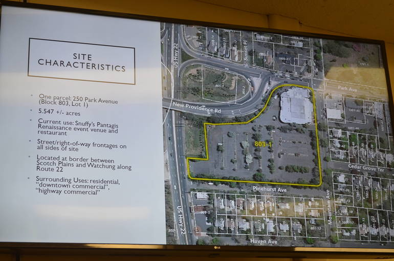 Details of the Snuffy's plan presented at the Scotch Plains Council meeting on Tuesday, Nov. 12.