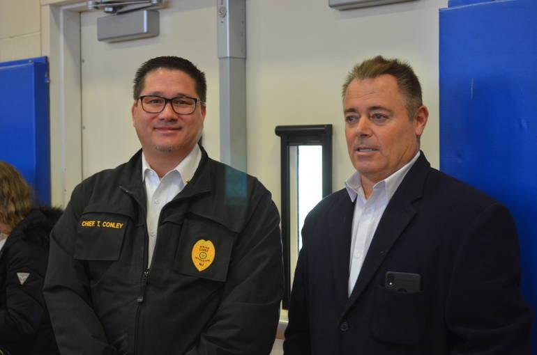 Scotch Plains Police Chief Ted Conley and Fanwood Police Chief Richard Trigo