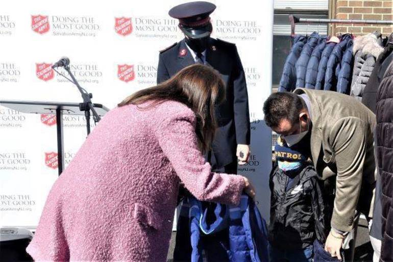 First Lady Tammy Murphy Brings Warmth, Coats to Jersey City