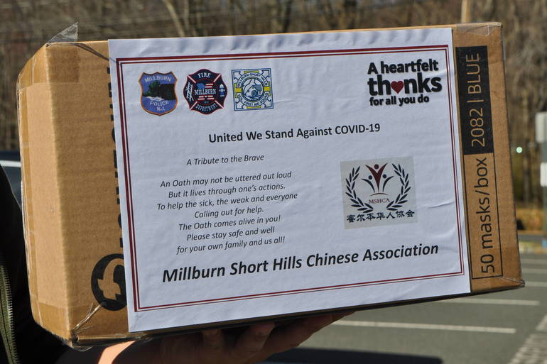 Millburn/Short Hills First Aid Squad Receives Gift of Masks From Local Chinese Community