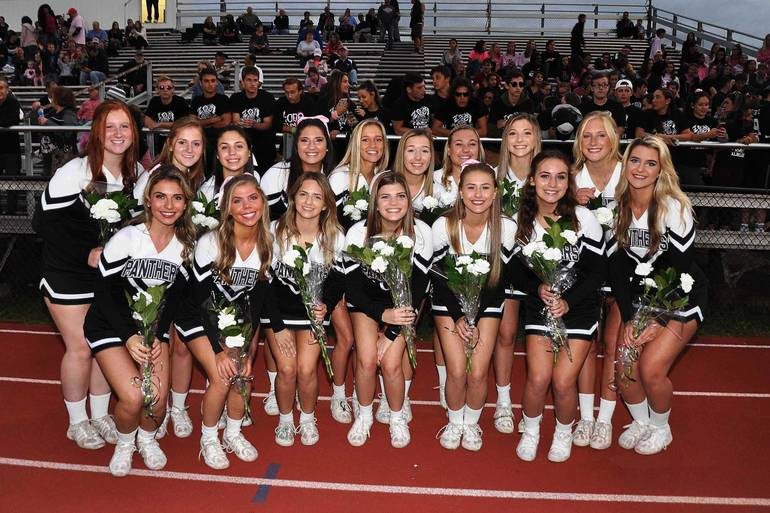 The senior members of the BRHS cheerleading team