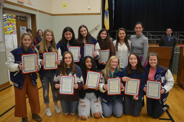 Girls field hockey was honored at the Scotch Plains-Fanwood Board of Education meeting on Thursday, Dec. 19.