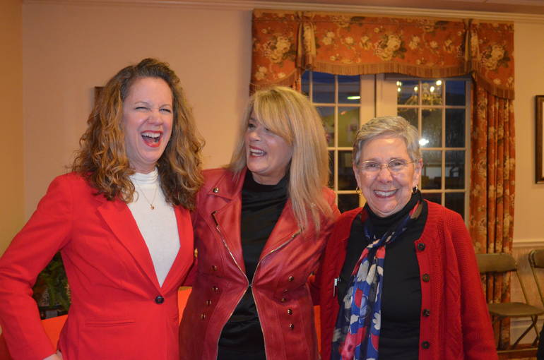 Fanwood Chelsea's Ladies in Red share a laugh