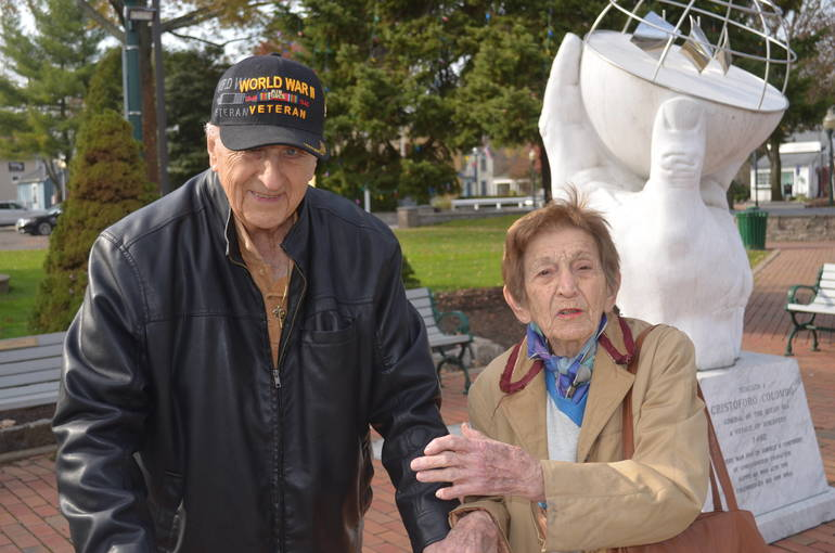 WWII vet Alex DiPace and Laura Swidersky, both longtime residents of Scotch Plains.