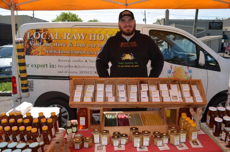 Local raw honey at the Scotch Plains Farmers Market