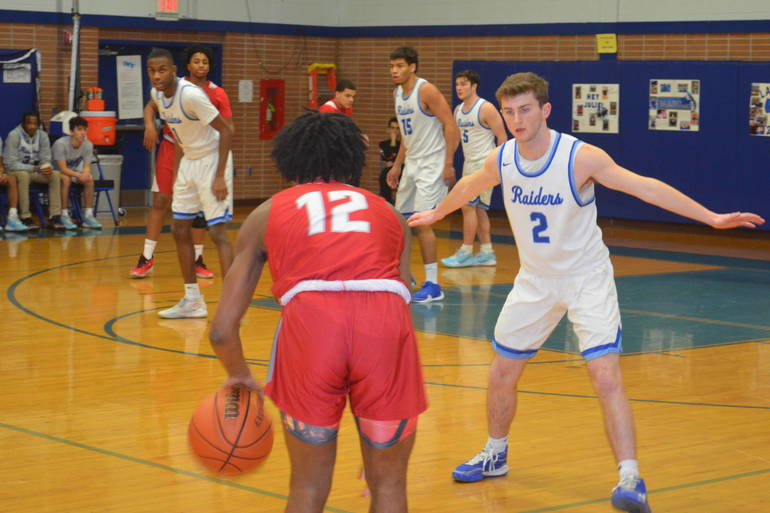 Scotch Plains-Fanwood's Hayden Widder plays defense.