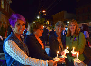 Candlelight Vigil Outside Historic Courthouse Highlights October as Domestic Violence Awareness Month