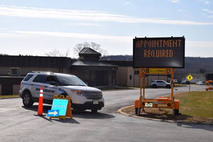 Hunterdon County Rt. 12 Drive-thru Vaccination Site Running Smoothly, Preparing for Daily Operation Once Supply Arrives