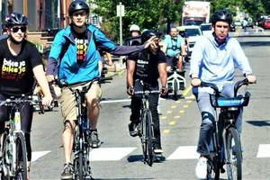 Fulop Pedals to Work to Raise Awareness of Bike Safety