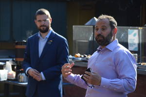 Mayor Josh Losardo, Tom Strowe, and other Scotch Plains officials met with local business owners to update them on downtown redevelopment and to further open the lines of communication.