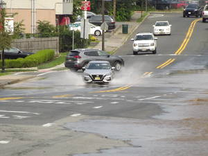 Water Main Break on River Road Causes Local Flooding