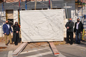 Battle of Springfield Relief Affixed to Development Project on Morris Ave.