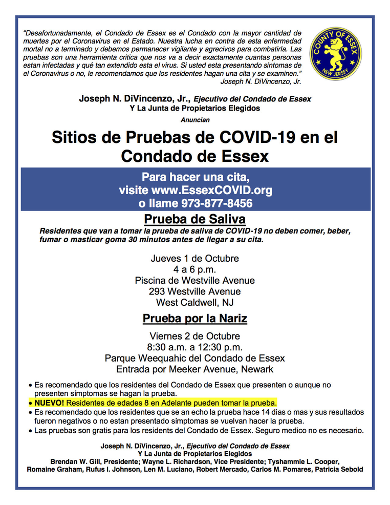 dual testing site -west caldwell Spanish.png