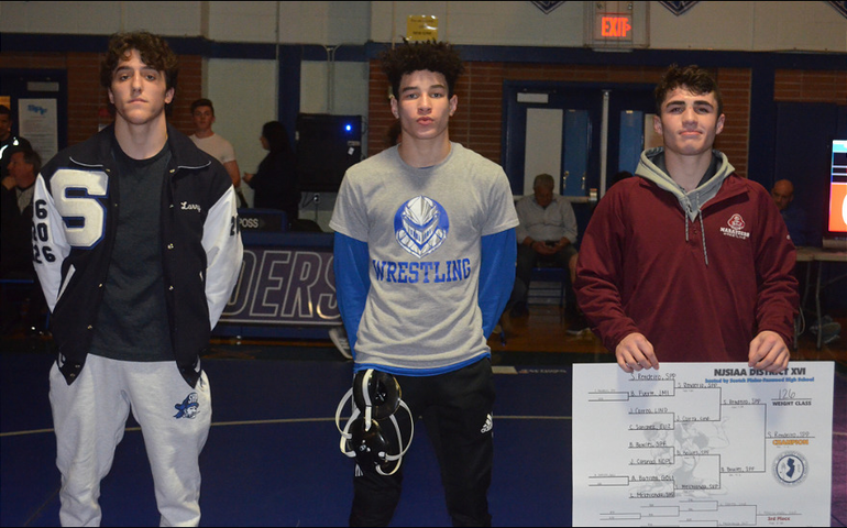 DWT - Scotch Plains-Fanwood's Brandon Bowles finished second in the District 16 wrestling tournament..png