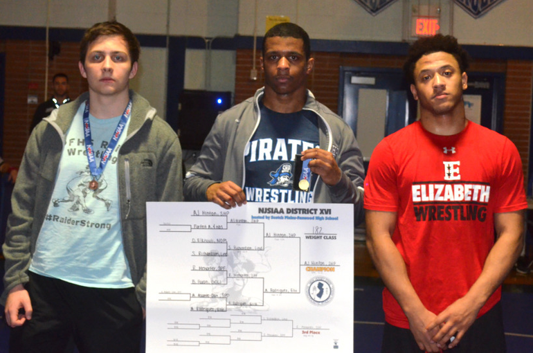 DWT - Scotch Plains-Fanwood's Robert Mehorter finished third in the District 16 wrestling tournament..png