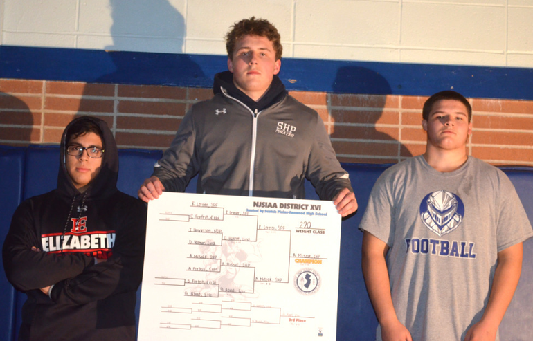 DWT - Scotch Plains-Fanwood's Robert Lerner finished second in the District 16 wrestling tournament.png