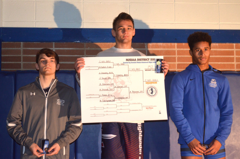 DWT - Scotch Plains-Fanwood's Anthony Robinson finished second in the District 16 wrestling tournament. Conner Vill.png