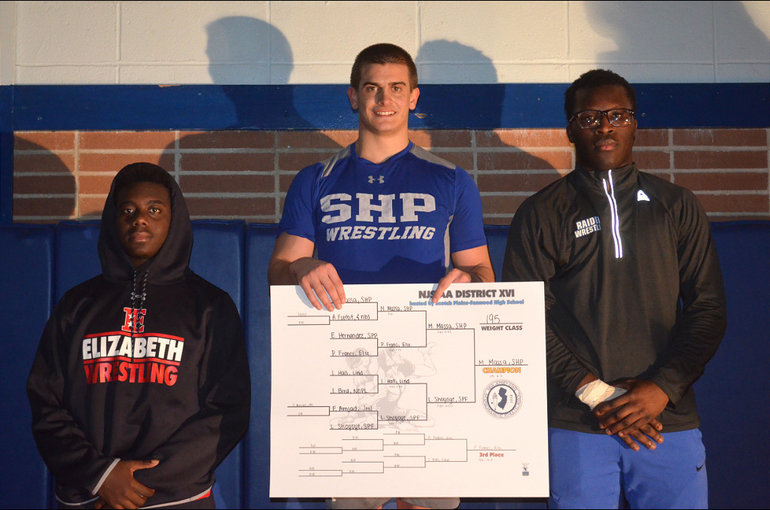 DWT - Scotch Plains-Fanwood's Larry Shoyoye finished second in the District 16 wrestling tournament..png