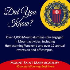 Mount Saint Mary Academy Open House - Alumnae