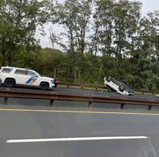 Middletown: Car Flips on Parkway