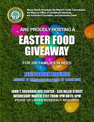 Mayor Armstead to Host Easter Food Giveaway for 200 Linden Families