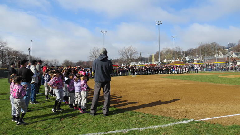 EDIT teams on infield 2019-04-06 2019 April HHLL Opening Day 039.jpg