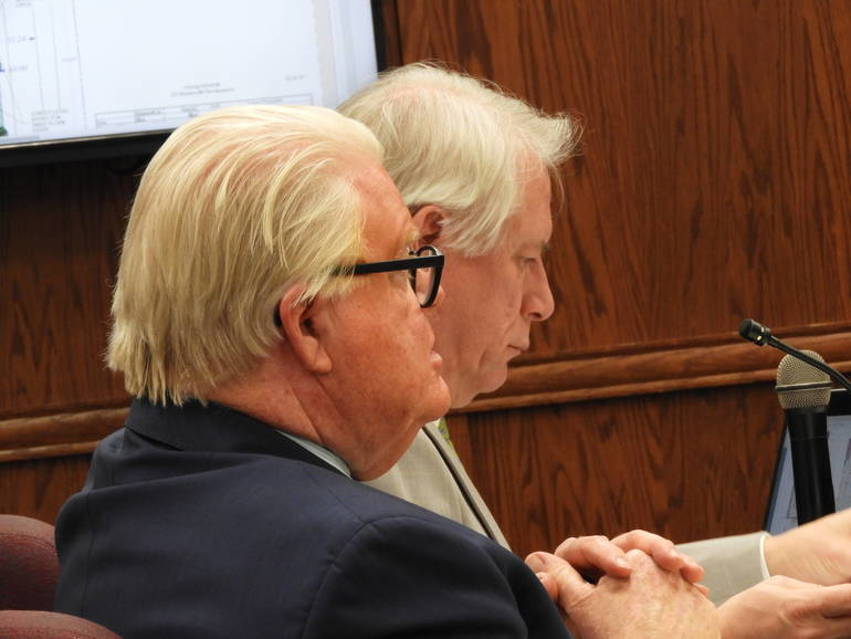 Legal counsel Ed McKenna with SOME architect Michael Simpson.JPG
