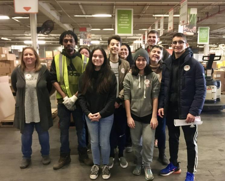 Hasbrouck Heights Music Students Pitch in at New Jersey's Food Bank