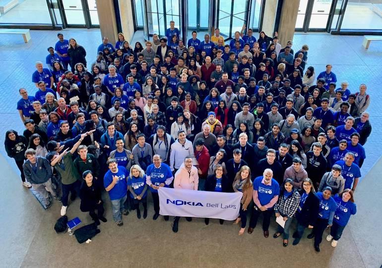 EDIT Teterboro students tour Nokia Bell Labs 2018 group photo.jpg