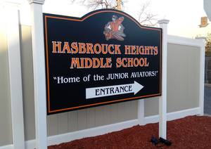 Hasbrouck Heights Middle School sign