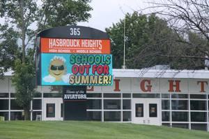 Hasbrouck Heights High School sign