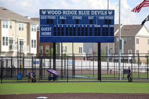 Wood-Ridge Athletic Complex baseball scoreboard