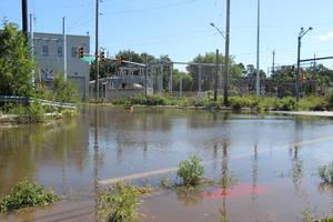 Hasbrouck Heights Route 17 flooding Ida