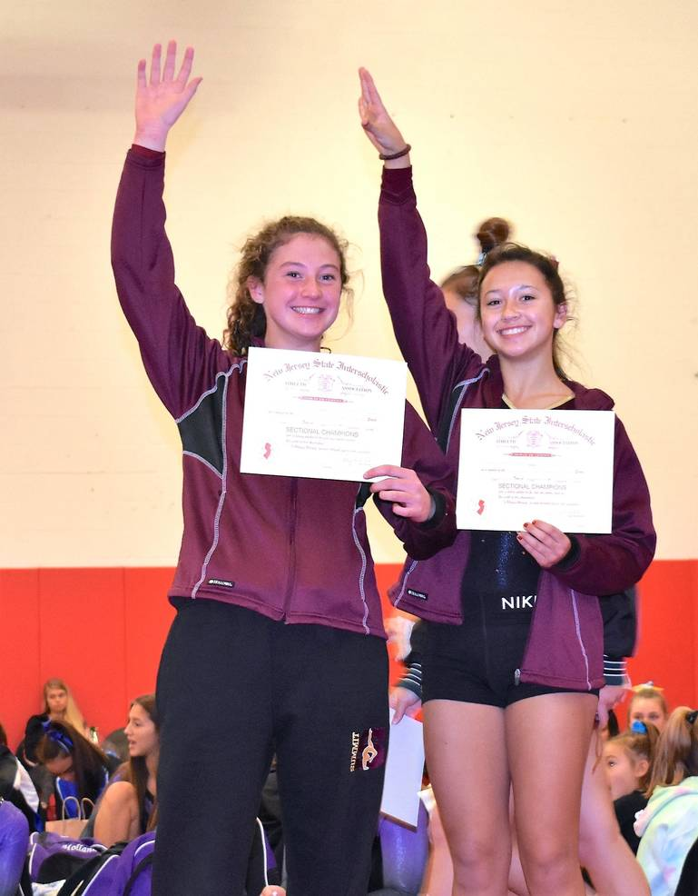 Emma Burke and Catherine Singow all-section on floor.JPG