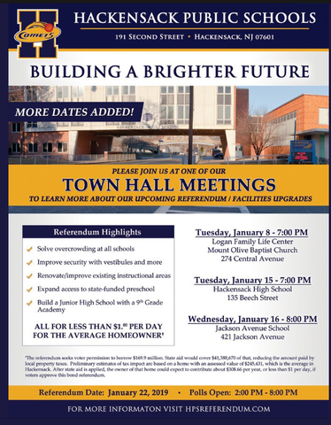 Hackensack Public Schools To Host Information Sessions about