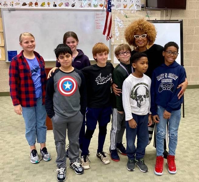 Senator Gill with Students