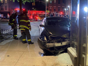 Car crashes into Equinox.