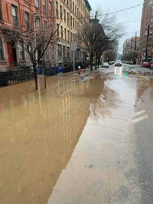Hoboken Water Main Break on 12th & Hudson