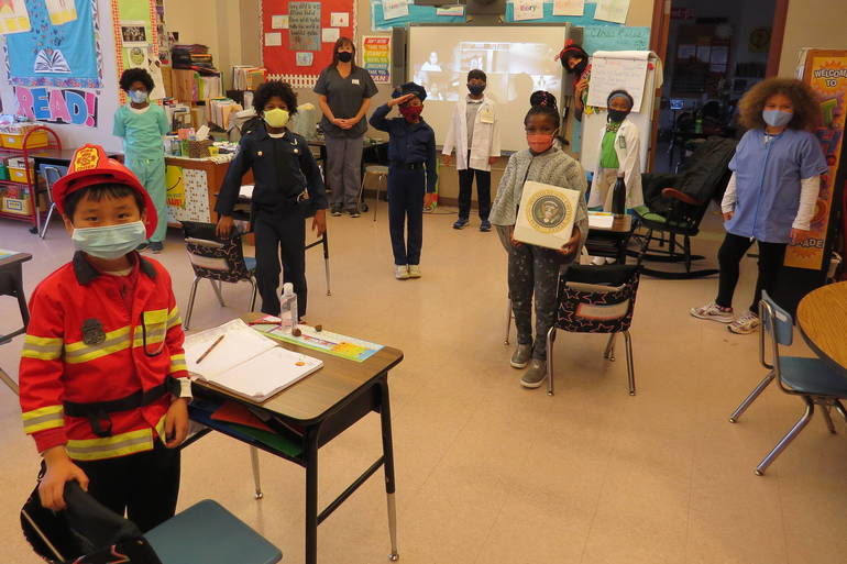 Wardlaw+Hartridge Third Graders Put Essential Spin on Halloween