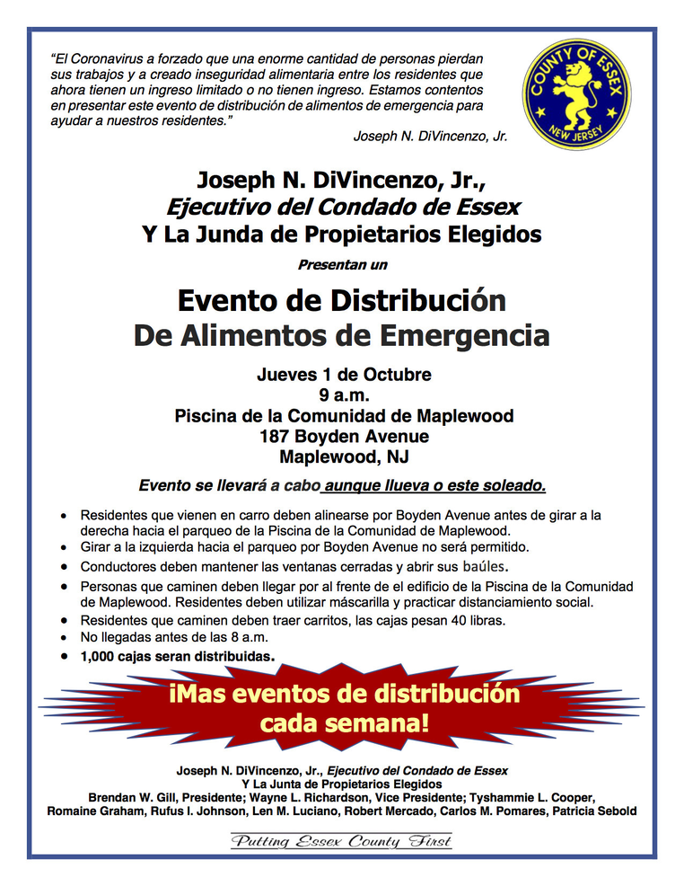 Essex County food distribution -maplewood spanish.png