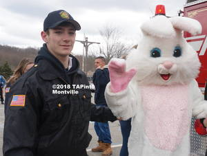 Carousel image 8ec7ba31ea5ce22cd860 explorers kyle cooney escorts the easter bunny escorts the easter bunny at the annual egg hunt  2018 tapinto montville