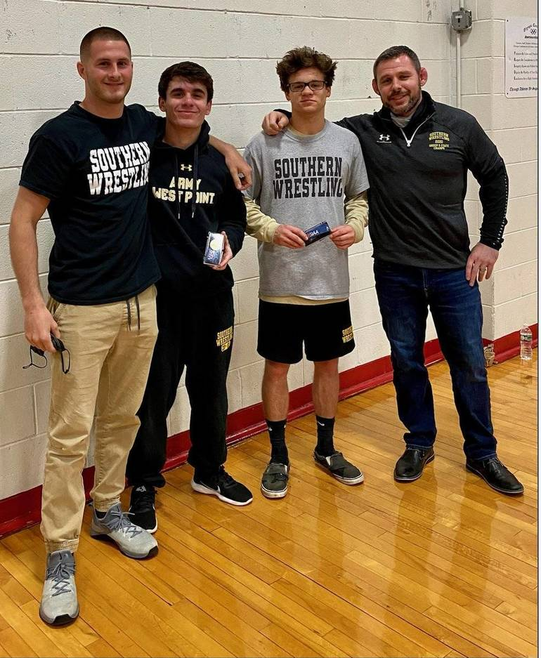 Hummel, Collins Take South Jersey Wrestling Titles:  Two Additional Rams Advance to States