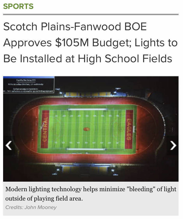 How badly do we NEED football lights  - NOW?