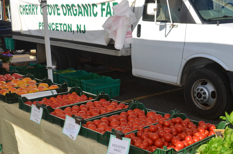 Fresh fruits and vegetables at the Scotch Plains Farmers Market.