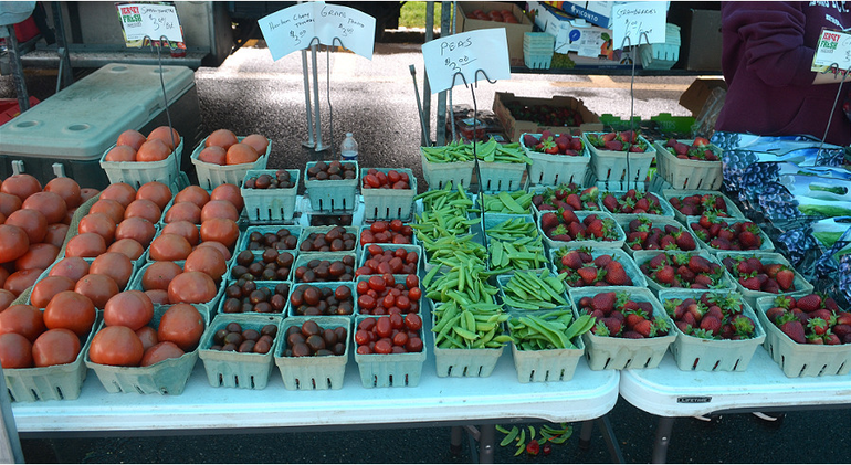 Vegetables and fruits from Asprocolas Acres at the Scotch Plains Farmers Market on Saturday, May 23.