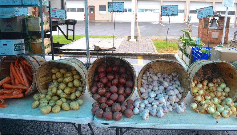 Vegetables from Asprocolas Acres at the Scotch Plains Farmers Market on Saturday, May 23.
