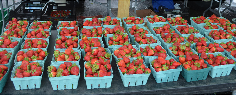 Ort Farms strawberries at the Scotch Plains Farmers Market on Saturday, May 23.