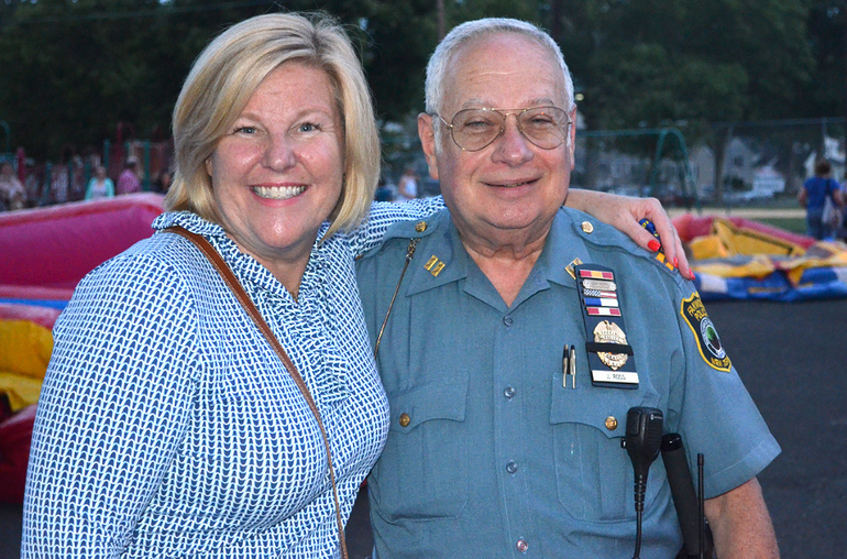 Fanwood Mayor Colleen Mahr and police officer Ross.png